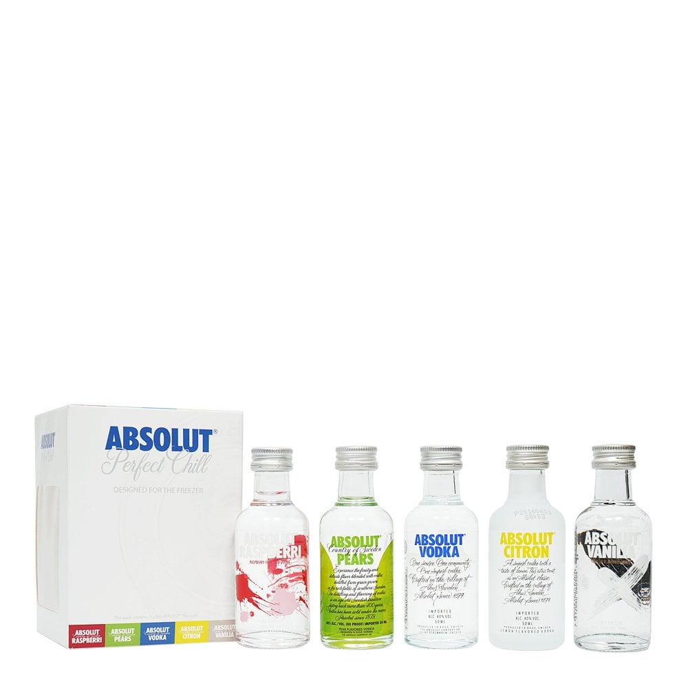 Absolut Perfect Chill Freezer Vodka - 5x5cl Miniature Gift Pack
