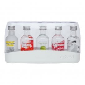 Absolut Vodka - 5x 5cl Miniature Gift Pack - Gift Ideas from The Whisky World UK