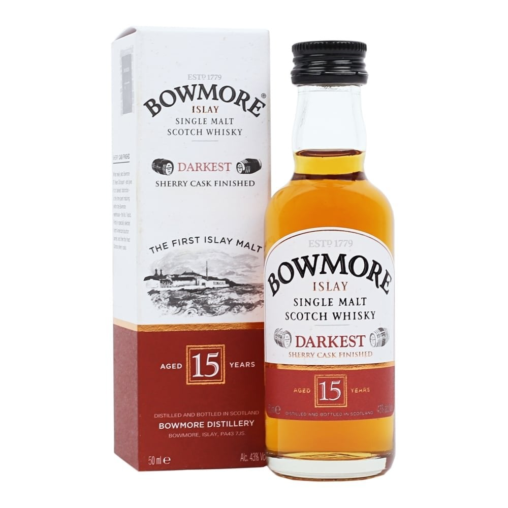5cf4f1c7092 Bowmore 15 Year Old Darkest - 5cl Miniature - Gift Ideas from The ...