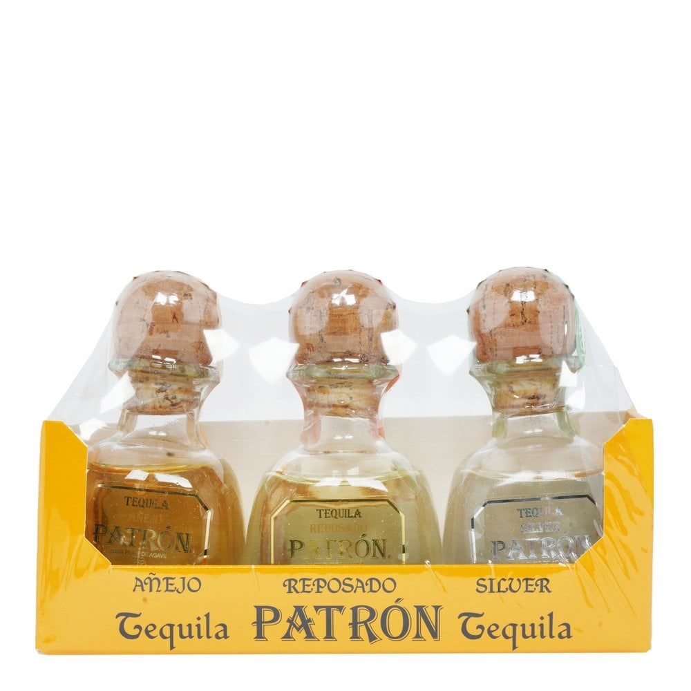 Patron Tequila Pack 3x5cl Miniatures Gift Ideas From The Whisky World Uk